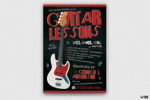 Guitar Lessons Flyer Template V2 by Thats-Design