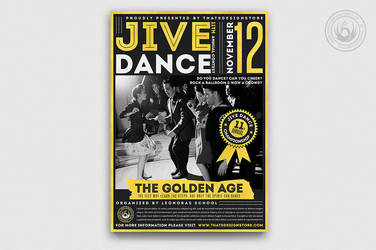Jive Dance Flyer Template by Thats-Design