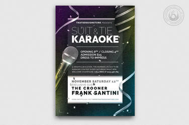 Classy Karaoke Flyer Template by Thats-Design