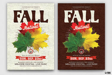 Fall Festival Flyer Template by Thats-Design