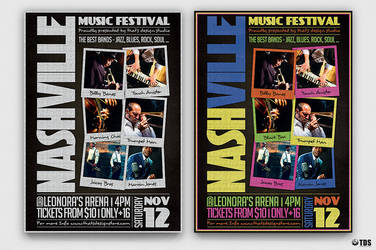Music Festival Flyer Template V12 by Thats-Design