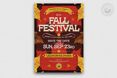 02 Fall Festival Flyer Template V2 by Thats-Design