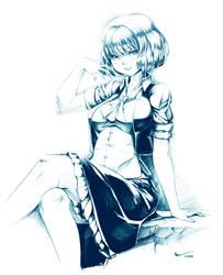 Nsio Inks: Touhou Yuuka Kazami by Nsio