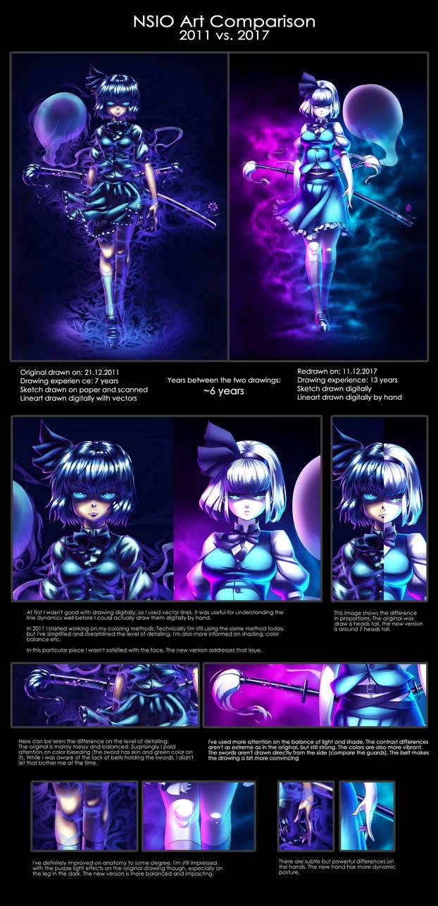Nsio Art Comparison: 2011 vs. 2017 by Nsio