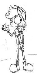 Applejack sketch by Vatoff2
