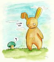 Bunny Luvs Shrooms by enchantma