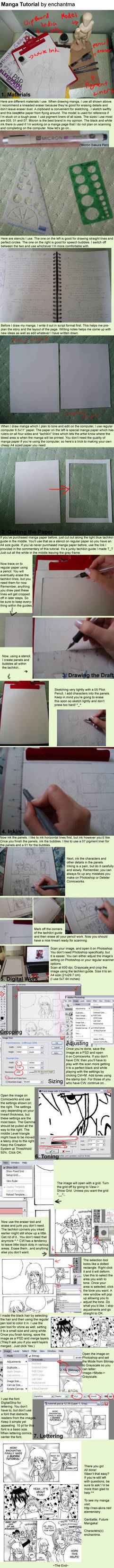 Manga-Making Tutorial by enchantma