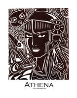 Athena Woodcut by enchantma