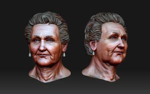 Grandmas Head by pixelchaot