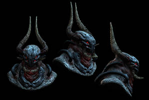 demon head texturing wip by pixelchaot