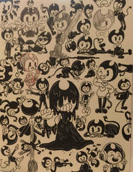 ALL THE BENDY'S by kirbyplushie