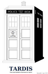 Tardis outline or Coloring Page Shaded Ver. by Ryuuzaki-L-spy-19