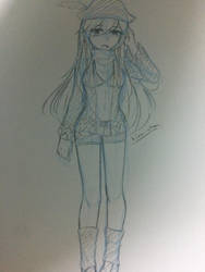 [Sketch]Matt genderbend ver. by Kimoichan