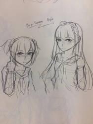 [Sketch] Pop Team Epic by Kimoichan