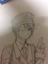 [Sketch] Handsome guy by Kimoichan