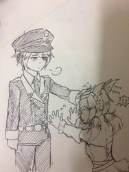 [Sketch] LanceAnna by Kimoichan