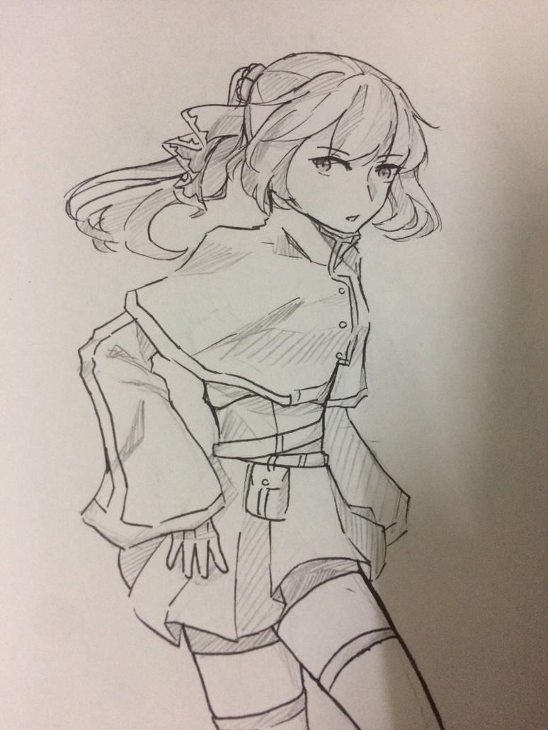 [Sketch] My new OC by Kimoichan