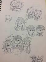 [EBF] Chibi style (sketch) by Kimoichan