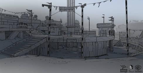 Batman Arkham Origins: FunHouse 'BigDrop' by PHATandy