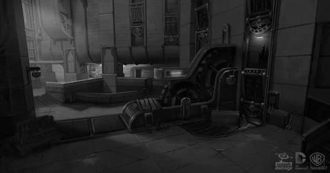 Batman Arkham Origins: RobotArmy Corner by PHATandy