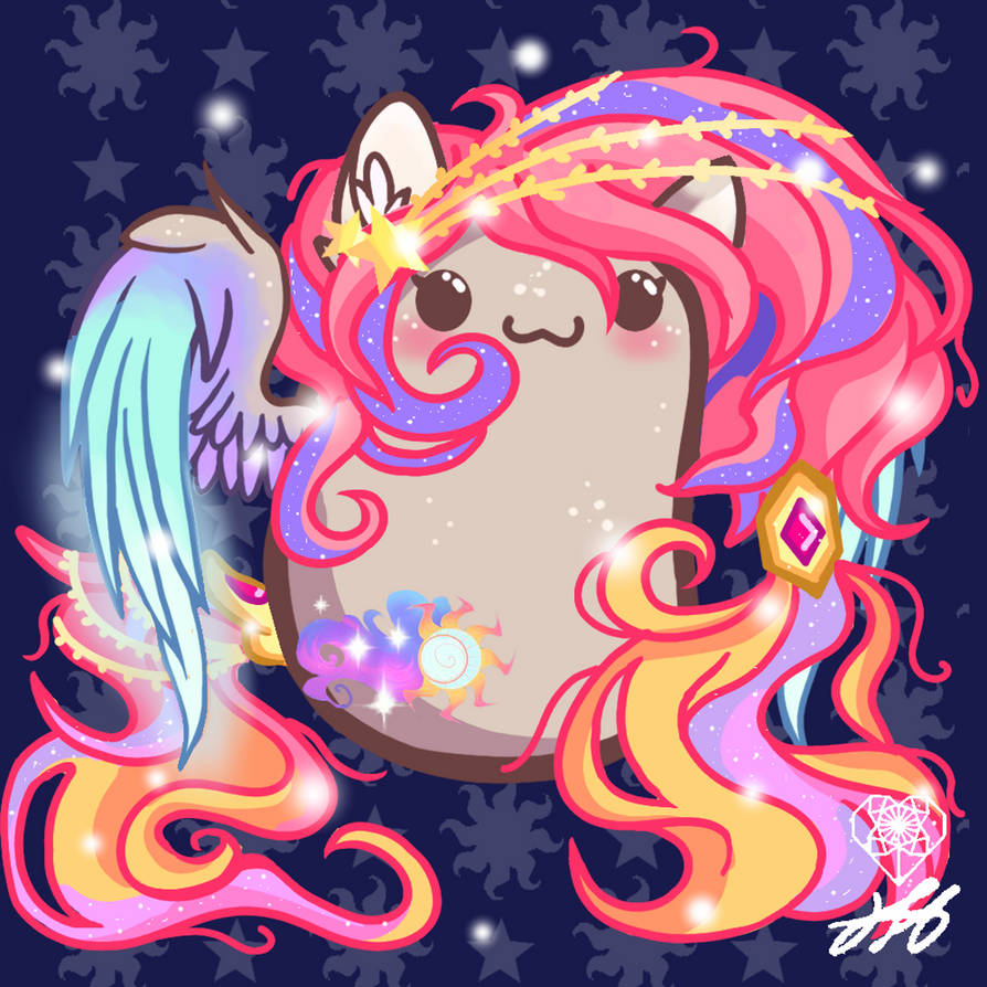 Potato Starry Sunrise (SUPPORT HER) by StainedGlassLightHea