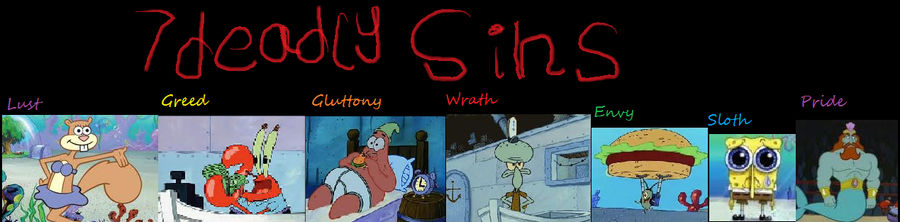 is spongebob based on the seven deadly sins