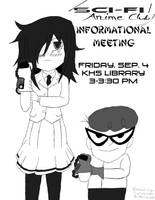 Sci-Fi / Anime Club Info Meeting Ad (2015) by TheEmily1220