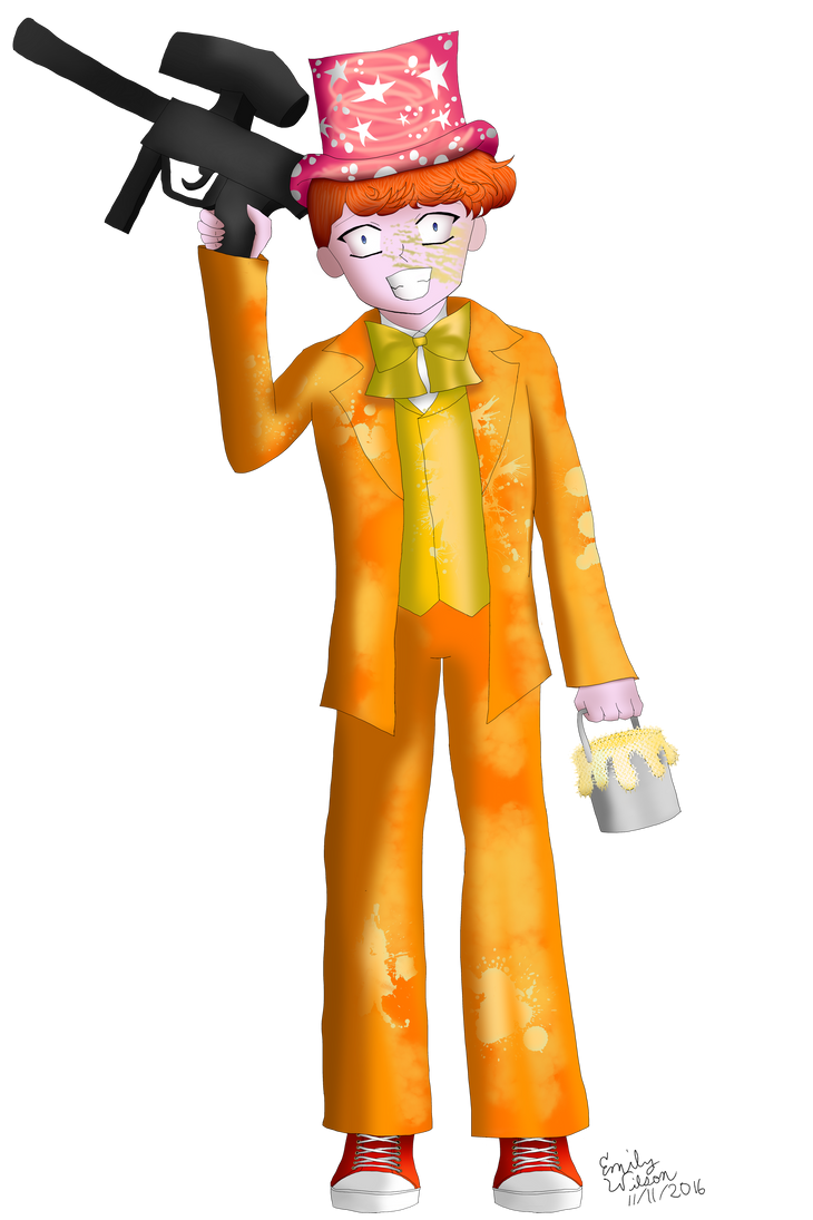 (ART TRADE) Archie the Paintphile by TheEmily1220