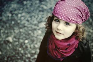little girl by monikha