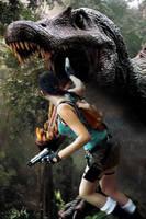 Lara VS Dino by pitchoonett