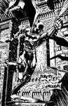 Batman doesn't knock on doors by ElieBongrand