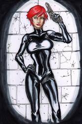 Black Widow Sketch by StarExtinction