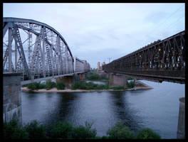 Bridges in Tczew by zdzichu