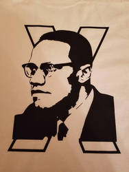 Malcolm X T-shirt by equalizedesignz