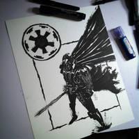 Darth Vader_Inktober by bamf27art
