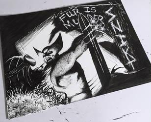 Wolverine Vs. Baron Zemo by bamf27art