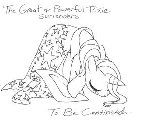 The Great and Powerful Trixie Surrenders... by VioletSquiggles