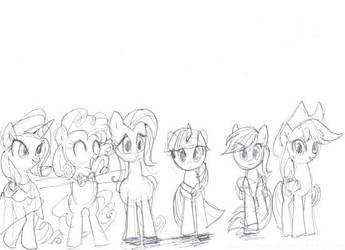 Rites of Asension Mane 6 by VioletSquiggles