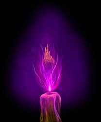 Purple candle by phoenixtfb