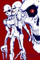 Zombie Skull by S0lrac