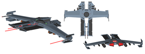 Vengeance-Class Superiority Starfighter by Myriagonic