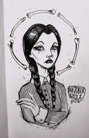 INKtober 2016: Day 1 - wednesday addams by as-obu