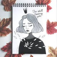 INKTOBER - ''I'm still loving you'' by as-obu