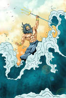 Poseidon, Sovereign of The Seas by GhostPepperArt
