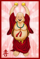 Hottei The Jolly Laughing Buddha by GhostPepperArt