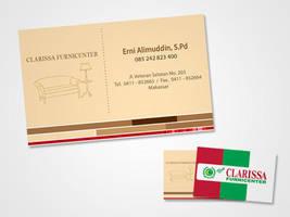 Business Card Clarissa Furnicenter by GhostPepperArt