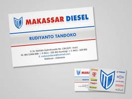 Standard Name Card Makassar Diesel by GhostPepperArt