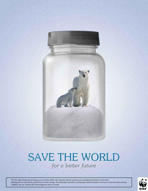 WWF - Global Warming - Save The World Polar Bear by GhostPepperArt