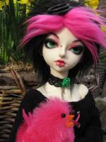 Pink chicken by RozenRood