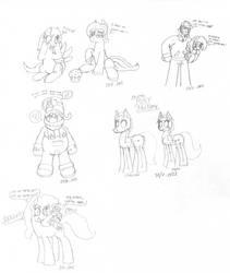 Ponies again by W-64